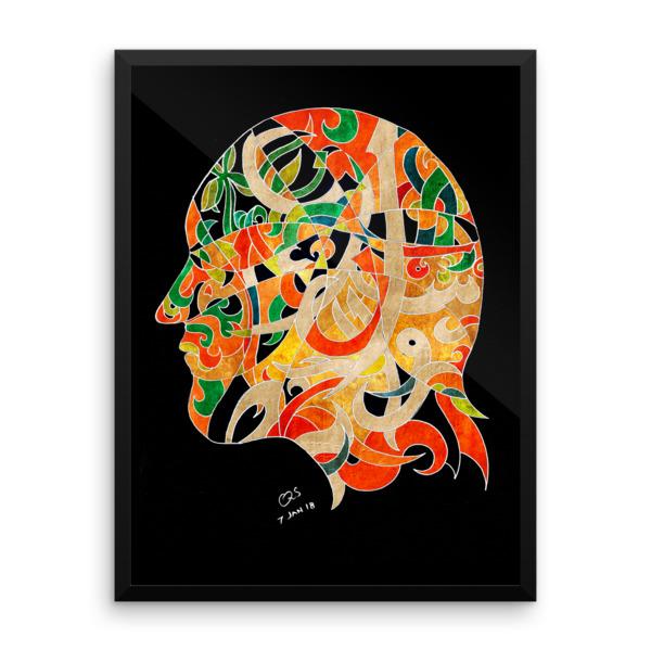Modern Arabic Calligraphy original art print by Qutaiba Al-Mahawili