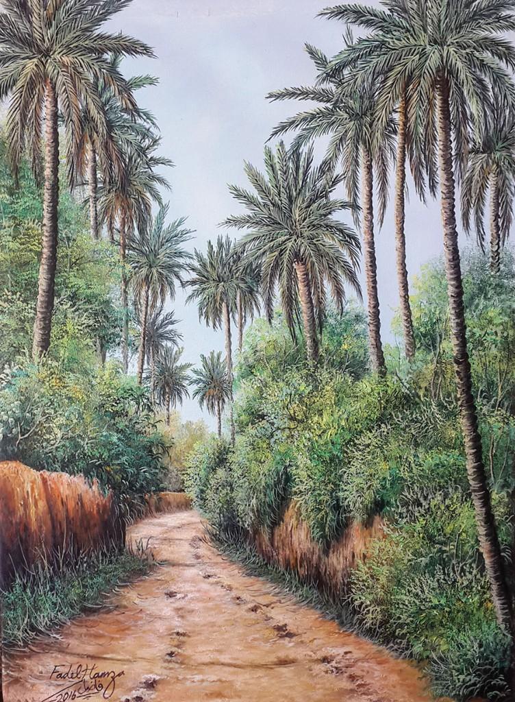 Original Iraqi painting رسم تشكيلي عراقي