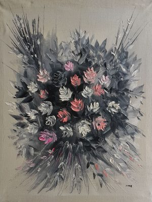 Flowers oil painting رسم تشكيلي عراقي رسم تشكيلي عراقي