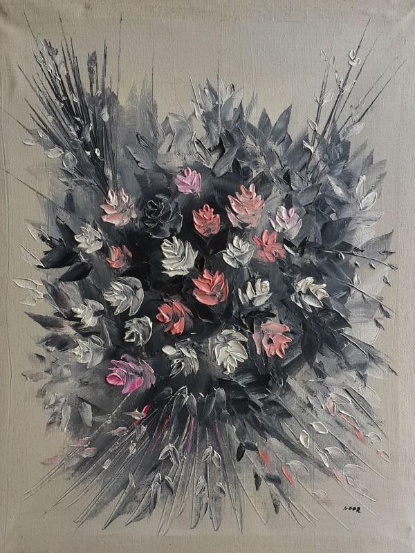 Flowers oil painting رسم تشكيلي عراقي رسم تشكيلي عراقي