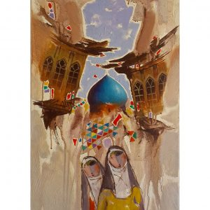 Original Iraqi painting رسم تشكيلي عراقي