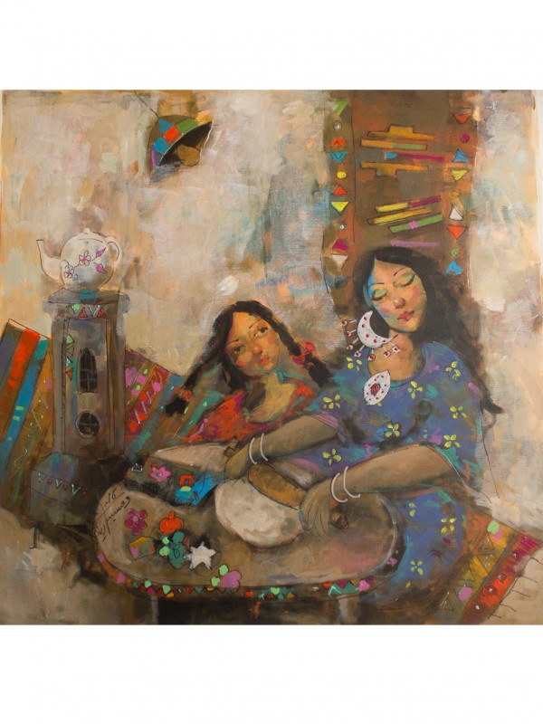 Impressionist Painting - Hajer Looks on - 70 x 70cm Original painting.