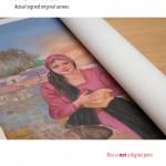 Photo of the rolled-out canvas صورة للوحة المفتوحة