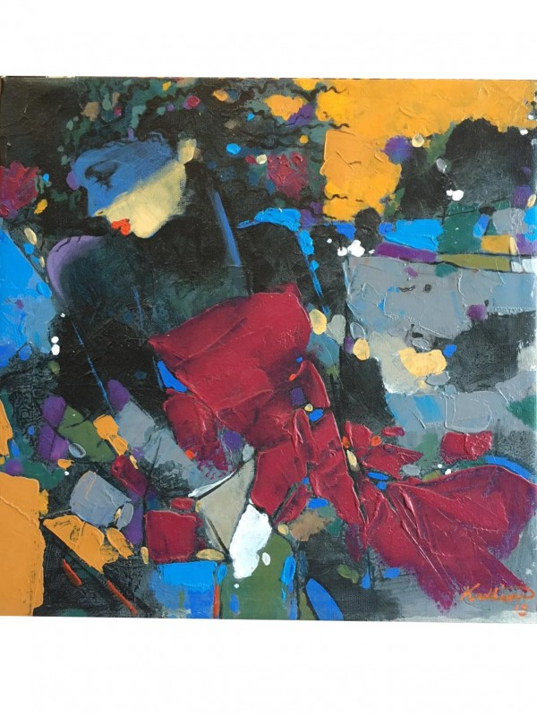 Fragmented Lady – 50 x 50 cm Original Modern painting
