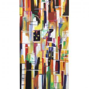Mondrian Proximity - 60 x 120 cmOriginal Modern painting