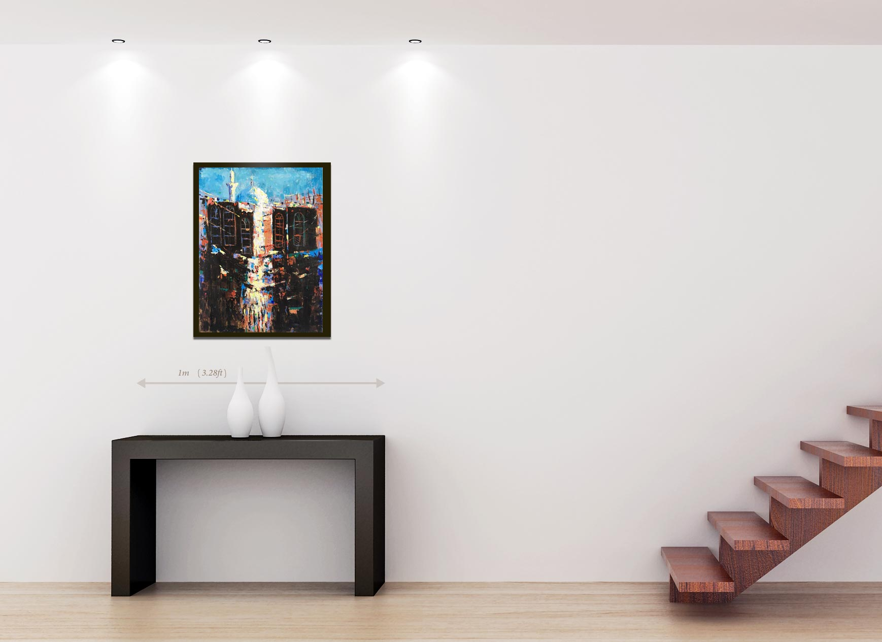Original Modern painting رسم تشكيلي حديث
