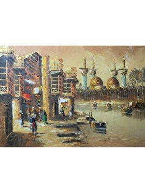 Baghdad beautiful watercolor art Baghdad large framed artwork